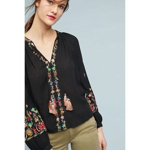 HTF RARE NWT ANTHROPOLOGIE Lanie Embroidered Top